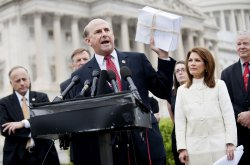 Rep. Louie Gohmert speaks on repealing the health care reform bill in Washington