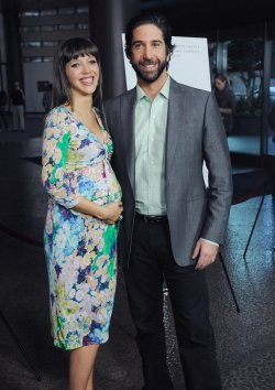 """David Schwimmer and Zoe Buckman attend the premiere of """"Trust"""" in Los Angeles"""