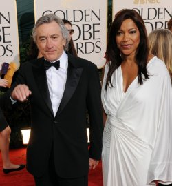 Robert De Niro and Grace Hightower arrive at the 68th annual Golden Globe Awards in Beverly Hills, California