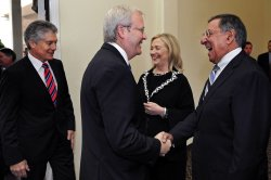 Defense Secretary Panetta and Secretary of State Clinton meet with Australian Foreign Minister Kevin Rudd in Australia