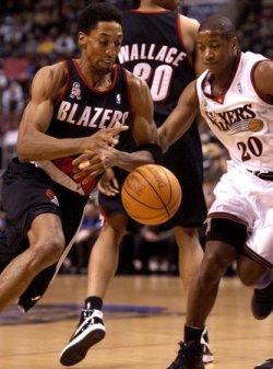 Portland Trail Blazers at Philadelhpia 76ers NBA Basketball