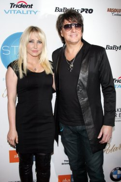 Richie Sambora and Nikki Lund arrive at the WTB Fall 2011 Fashion Show in New York