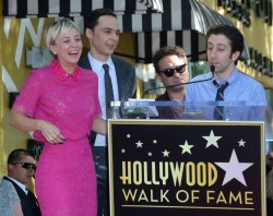 Kaley Cuoco receives posthumous star on Hollywood Walk of Fame in Los Angeles