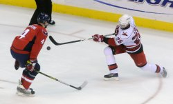 Washington Capitals vs the Carolina Hurricanes in Washington