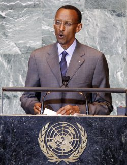 Paul Kagame, President of the Republic of Rwanda, speaks at the 66th United Nations General Assembly at the UN in New York