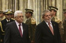 Brazilian President Lula da Silva meets with Palestinian President Abbas in Israel