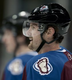 Avalanche Hejduk Watches Teammates in Denver