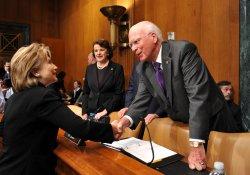 Secretary Clinton and Gates testify on Capitol Hill in Washington
