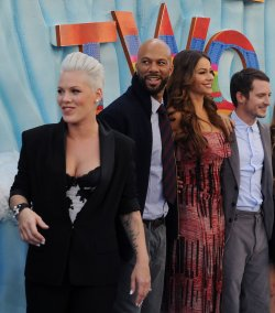 "Alecia Moore aka ""Pink""Sofia mingles with cast members at the ""Happy Feet Two"" premiere in Los Angeles"