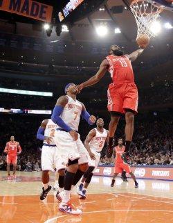 Knicks vs Rockets at Madison Square Garden