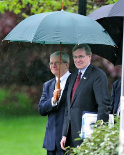 Bush Departs for New Orleans from White House
