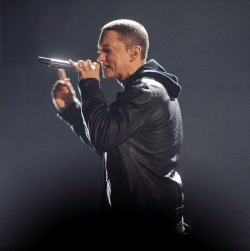 Eminem performs at the 2010 BET Awards in Los Angeles