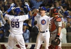 Cubs' Jorge Soler hits home run in the NLDS in Chicago