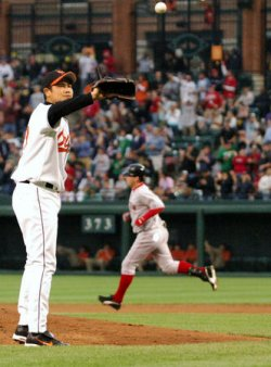 BOSTON RED SOX AT BALTIMORE ORIOLES
