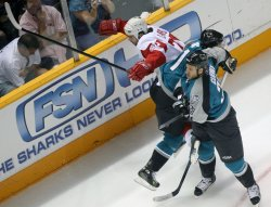 DETROIT RED WINGS VS SAN JOSE SHARKS WESTERN CONFERENCE SEMIFINALS
