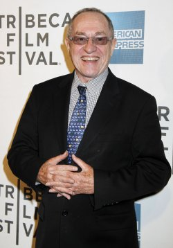 "Alan Dershowitz arrives for the Tribeca Film Festival Premiere of ""Knife Fight"" in New York"