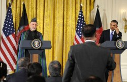 Pres. Obama and Afghan Pres. Hamid Karzai hold joint press conference in Washington