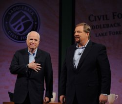 Obama and McCain participate in Civil Forum in Lake Forest, California