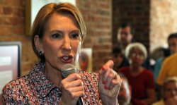 Fiorina Speaks to Supporters in Greencastle, Indiana