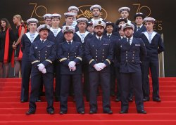 French National Marines attend the Cannes Film Festival