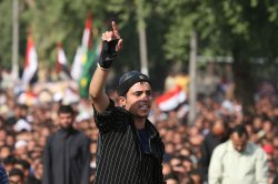 Thousands demonstrate against security pact between Iraq and U.S. in Baghdad