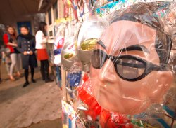 A Kim Jong-un mask is sold in Beijing