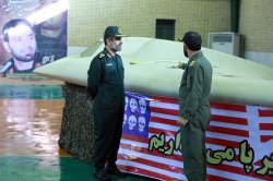 Iran displays downed drone