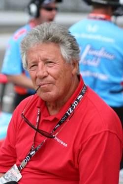 Mario Andretti Visits the Pits at the Indianapolis Motor Speedway, in Indianapolis, Indiana.