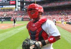 St. Louis Cardinals catcher Alberto Rosario