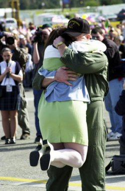 Servicemen reunited with their families