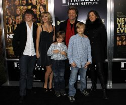 "Jon Bon Jovi and family arrive for the ""New Year's Eve"" Premiere in New York"