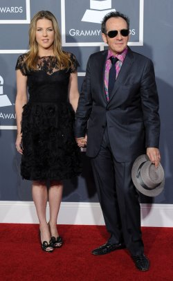 Elvis Costello and Diana Krall arrive at the 53rd annual Grammy Awards in Los Angeles