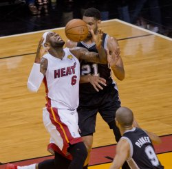 San Antonio Spurs vs Miami Heat in the NBA Finals in Miami