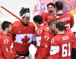 Canada wins gold in men's hockey at the 2014 Winter Olympics