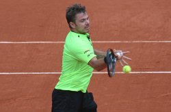 Stan Wawrinka plays his fourth round match at the French Open