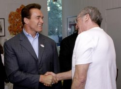 GOV. SCHWARZENEGGER CAST HIS BALLOT IN THE MIDTERM ELECTION