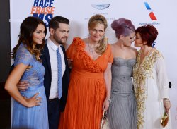 Lisa Stelly, Jack Osbourne, Nancy Davis, Kelly Osbourne, and Sharon Osbourne attend the 20th annual Race to Erase MS gala in Los Angeles