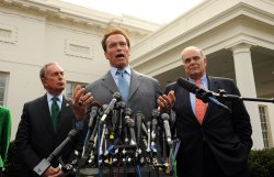 Schwarzenegger, Bloomber, Rendell meet with Obama in Washington