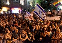 Israelis Protest Against Jewish Terror And Homophobia In Jerusalem