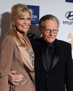 Larry King and Shawn Southwick attend the annual Clive Davis pre-Grammy party in Beverly Hills