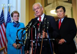 Rep. Bill Pascrell (D-NJ) speaks alongside other democrats in Washington