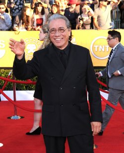 Actor Edward James Olmos arrives at the 18th annual Screen Actors Guild Awards in Los Angeles