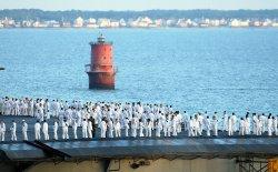 USS John F. Kennedy (CV 67) return