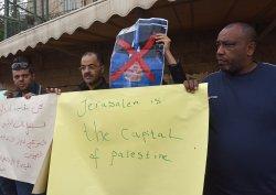 Palestinians Protest U.S. Recognition Of Jerusalem As Israel's Capital