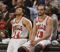 Washington Wizards play Chicago Bulls in Game 2 of the Eastern Conference Quarterfinals in Chicago