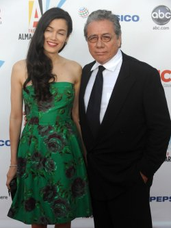 Edward James Olmos arrives at the ALMA Awards in Los Angeles