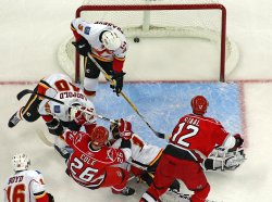 NHL Hockey Calgary Flames vs Carolina Hurricanes in Raleigh