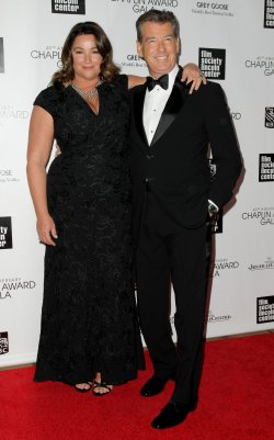 Keely Shaye Smith and Pierce Brosnan attend the 40th Annual Chaplin Award Gala in New York