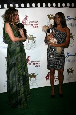 Sandra Bernhard and Deborah Cox arrive at the 5th Annual Dogcatemy Celebrity Gala in New York