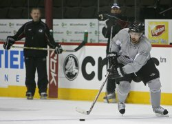 Colorado Avalanche Forsberg skates in Denver